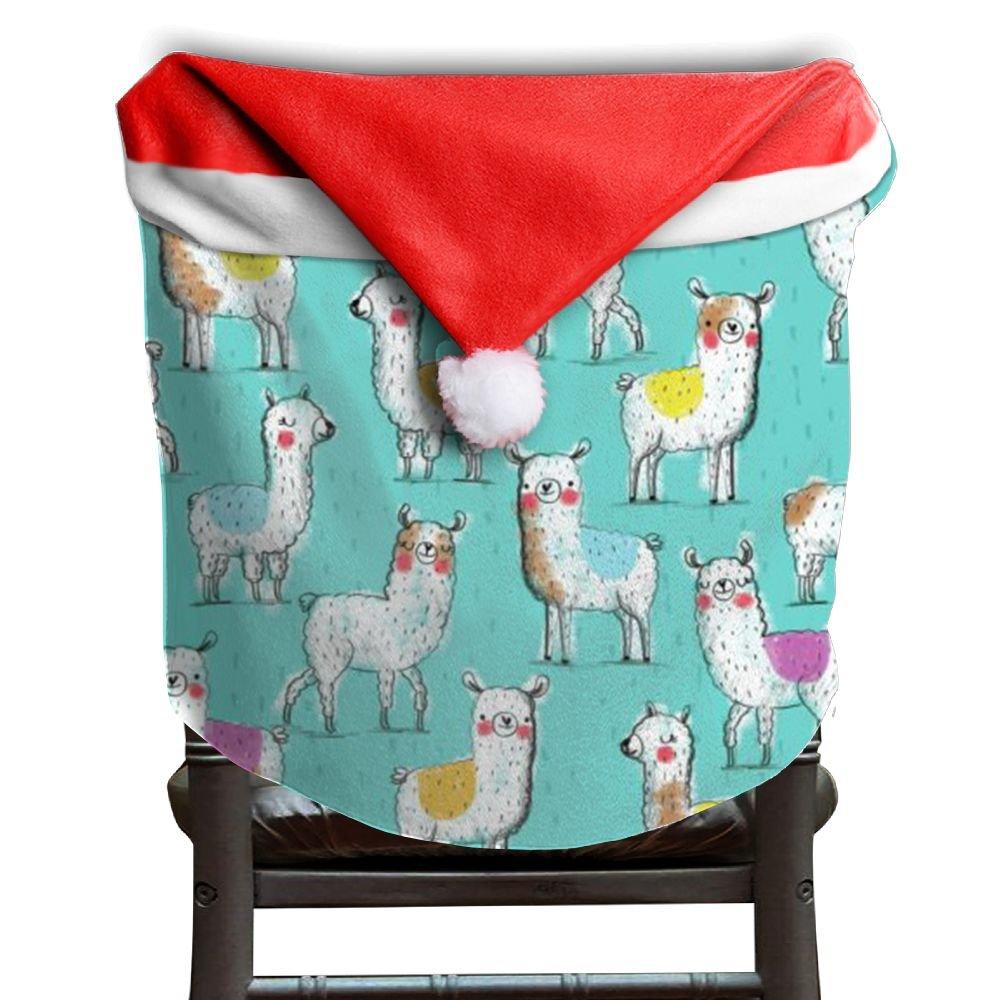 Llama Animal Christmas Chair Covers Decorations Comfort Touch Chair Covers For Christmas For Unisex Dinner Chair Covers Holiday Festive
