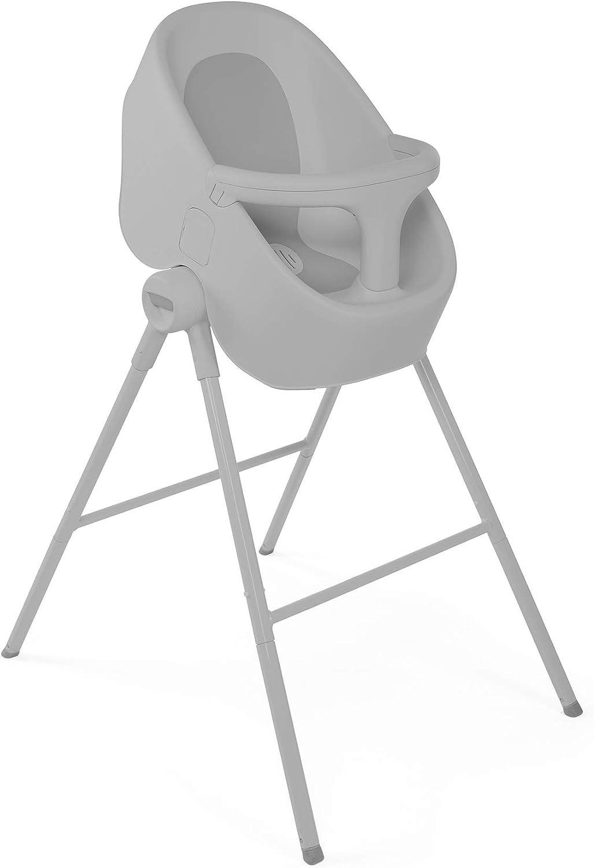 Chicco Bubble Nest Bañera transformable para ducha o baño, con patas extraibles y asiento antideslizante, color gris (Cool Grey)