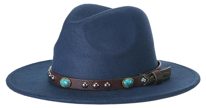 GEMVIE Hat Sombreros Panamá Fedora Mujer Hombre Vintage Fiesta Talla Única  Azul  Amazon.es  Ropa y accesorios c36b35bac43