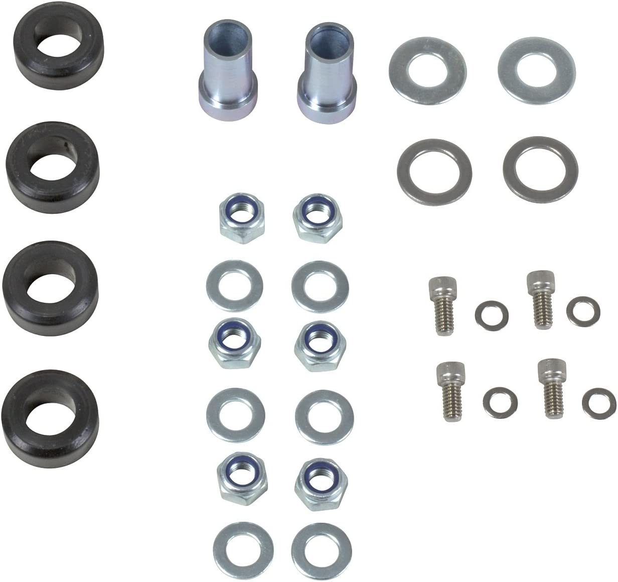 Incl Bracket//Flange//Nuts//Washers//Bushings Alignment Caster//Camber Hardware Kit BBK Performance Parts 25272 Alignment Caster//Camber Hardware Kit For Caster Camber Plates PN 2527