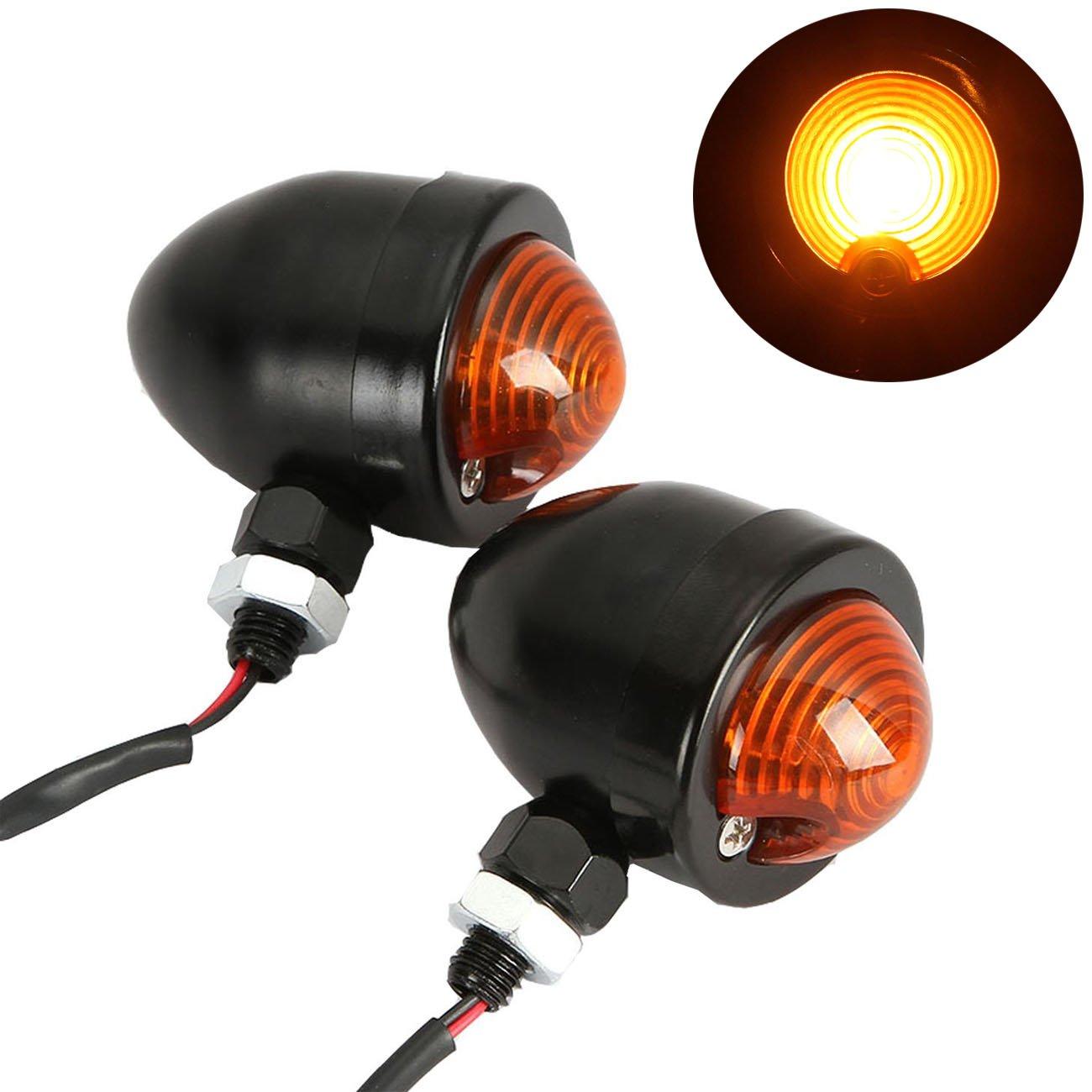 INNOGLOW Motorcycle Bullet LED Turn Signal Lights 2pcs Front Rear Turn Signals Indicator Blinkers Amber Lights for Harley Honda Yamaha Suzuki Kawasaki