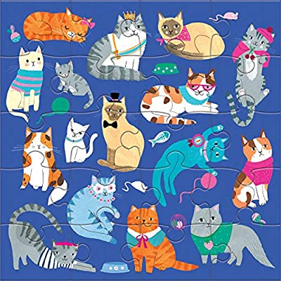 Mudpuppy Cats & Dogs Magnetic Puzzles: Toys & Games