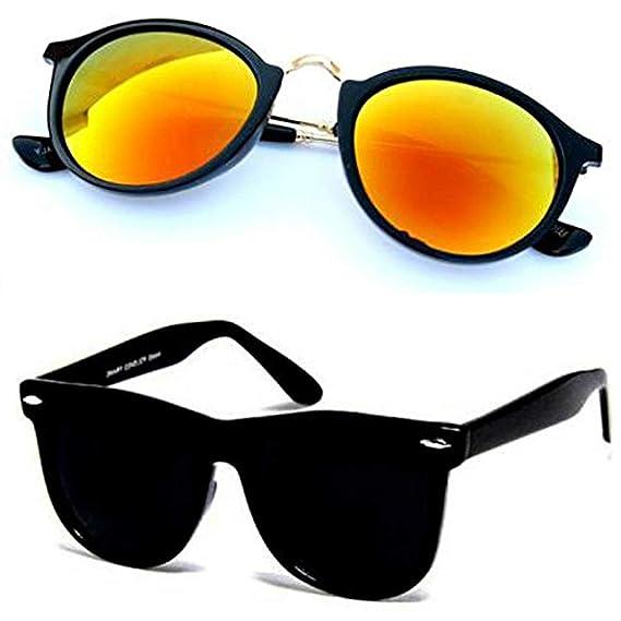 1ba08b0289d0 Sheomy Combo Set of 2 Fashion Wayfarer Goggle and Sunglasses Ideal for Men  Women Boys and