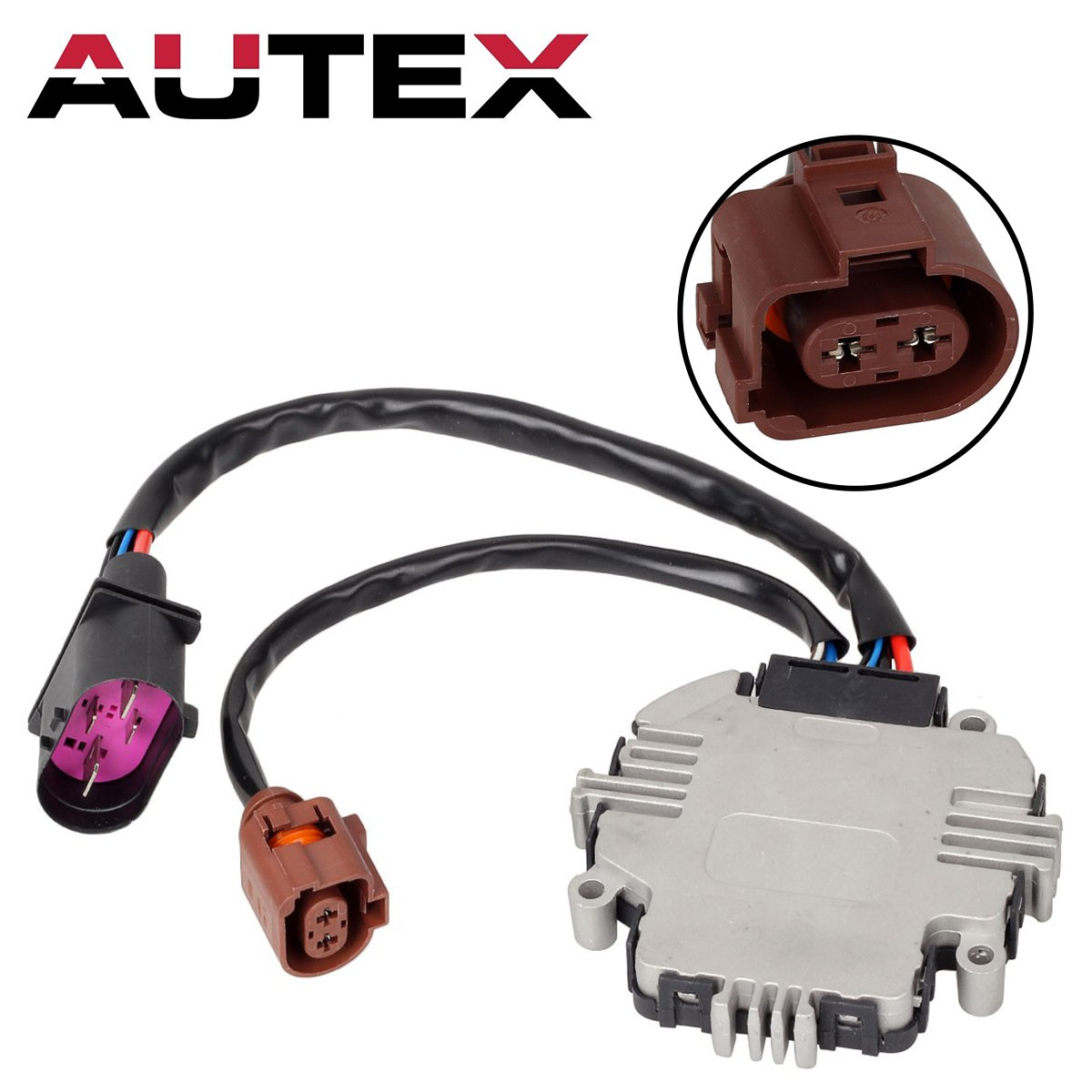 Cooling Fan Control Module Replacement for 2006 2007 2008 2009 2010 2011 2012 2013 Audi A3 2007 2008 2009 2010 2011 2012 2013 2014 2015 Audi TT 2012 VOLKSWAGEN Beetle