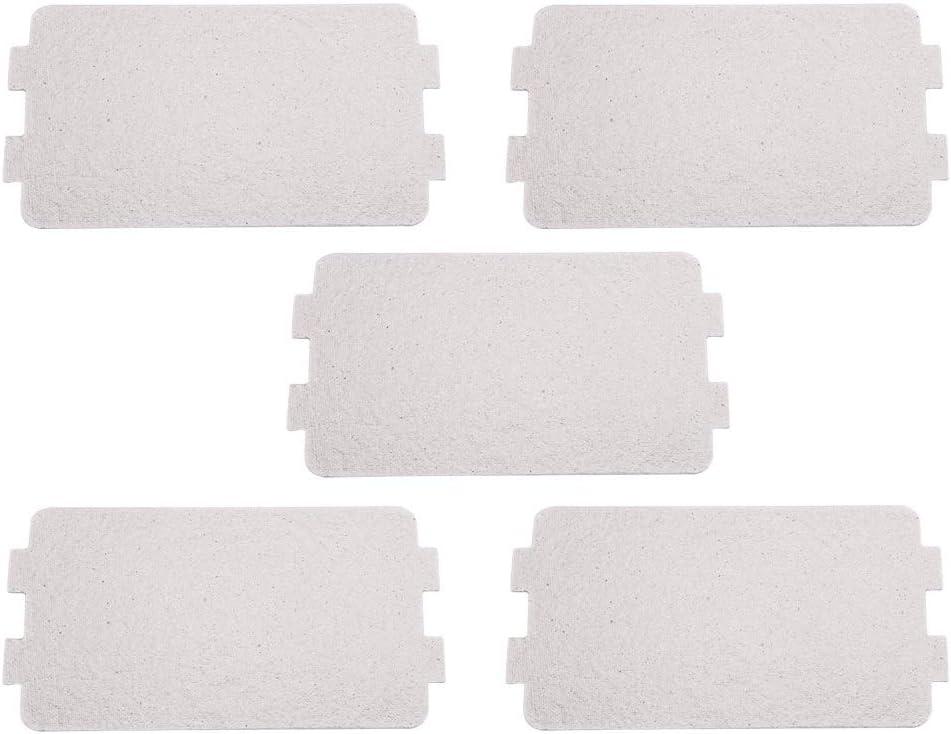 VIFERR Placa de Mica del Horno de Microondas, 5 Piezas Pieza de Reparación del Horno de Microondas Láminas de Mica Láminas de Repuesto Accesorio de Reparación para El Horno de Microondas de Cocina