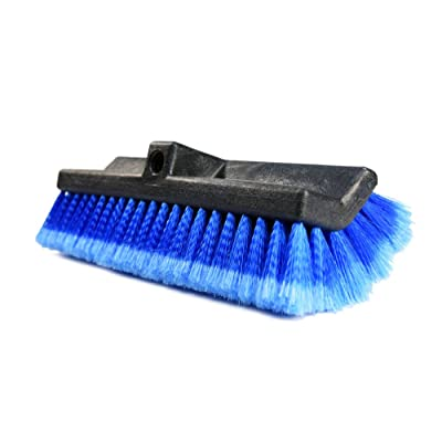 "CARCAREZ 13"" Flow-Thru Bi-Level Car Wash Brush Head with Soft Bristle for Auto RV Truck Boat Camper Exterior Washing Cleaning: Automotive"