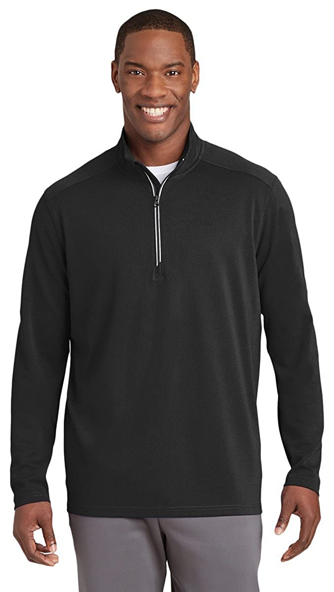 Sport-Tek Mens Textured Zip Pullover