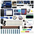 UNO Project Super Starter Kit for Arduino w/ UNO R3 Development Board, LCD1602, Membrane Switch, Servo, Stepper Motor, Joystick, Power Supply Adapter, DHT11, IR Receiver, Detailed Tutorial