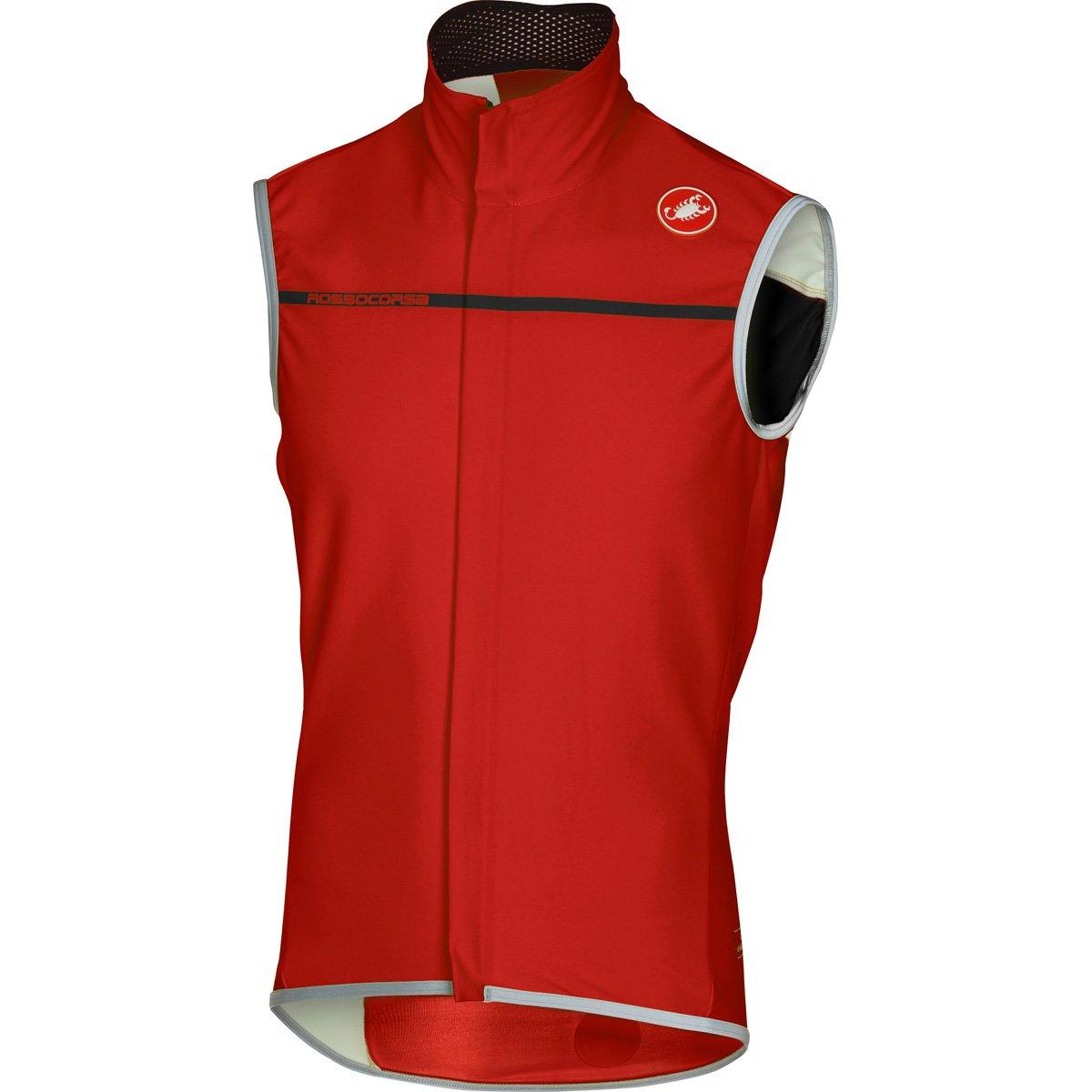 Castelli Perfetto Vest – Men 's B01LXX4QXY Medium|レッド レッド Medium