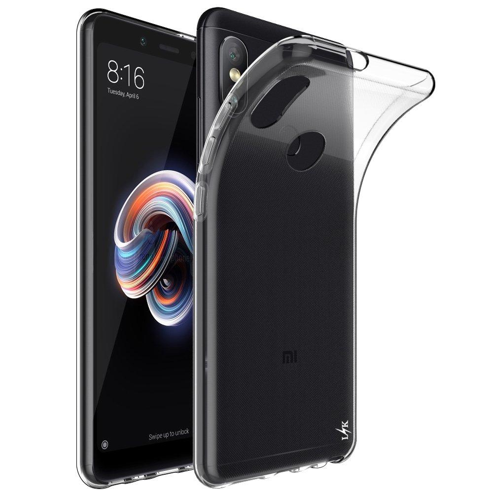 Xiaomi Redmi Note 5 Pro / Mi 6X Case, LK Soft TPU Anti-Scratch Gel Silicone Case [Slim Thin] Protective Cover - Transparent