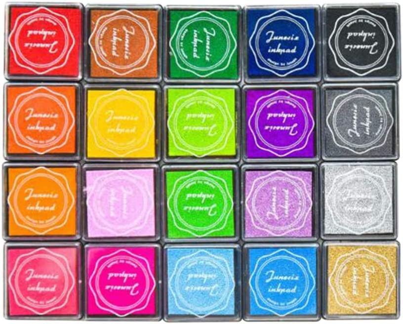 NUOBESTY Craft Ink Pad DIY Rainbow Stamp Pad Gradient Color Ink Pad for Scrapbooking Rubber Stamps for Children Kids Home School