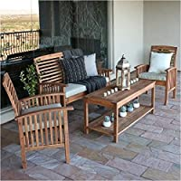 Pemberly Row 4 Pc. Wood Patio Set + $55 Sears Credit