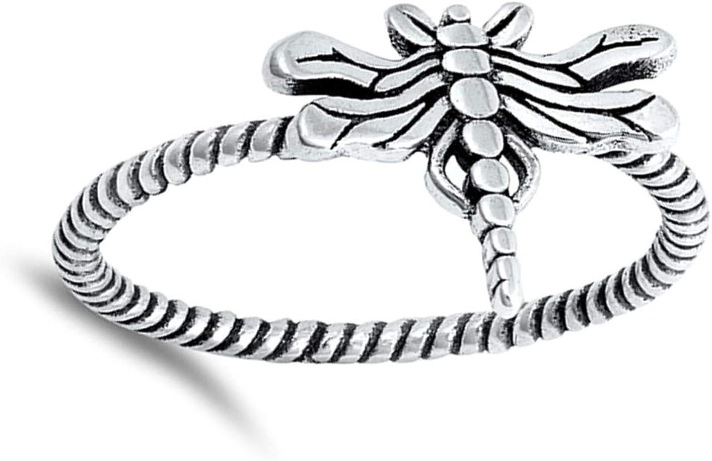 Sterling Silver Firefly Ring