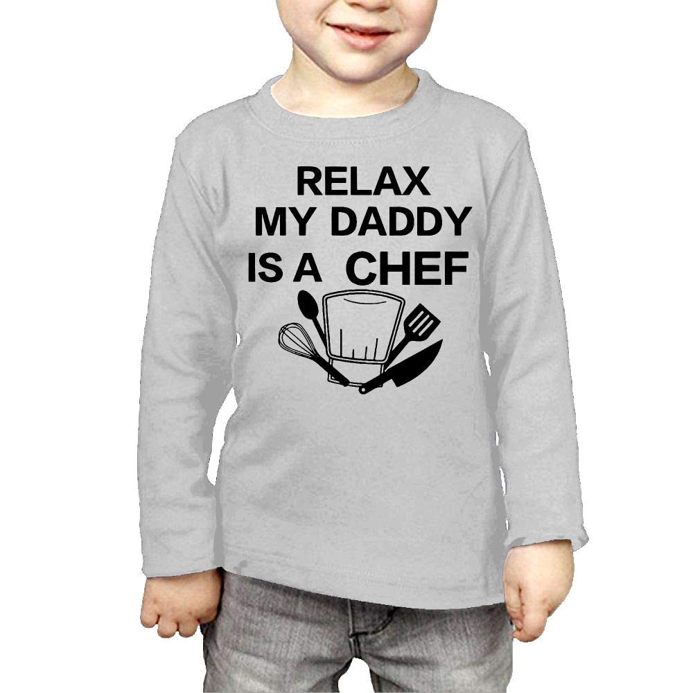 Newborn Childrens Relax My Daddy is A Chef Printed Long Sleeve 100/% Cotton Infants Tops
