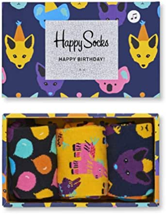 Happy Socks Party Animal Singing Birthday Gift Box Calcetines para Mujer