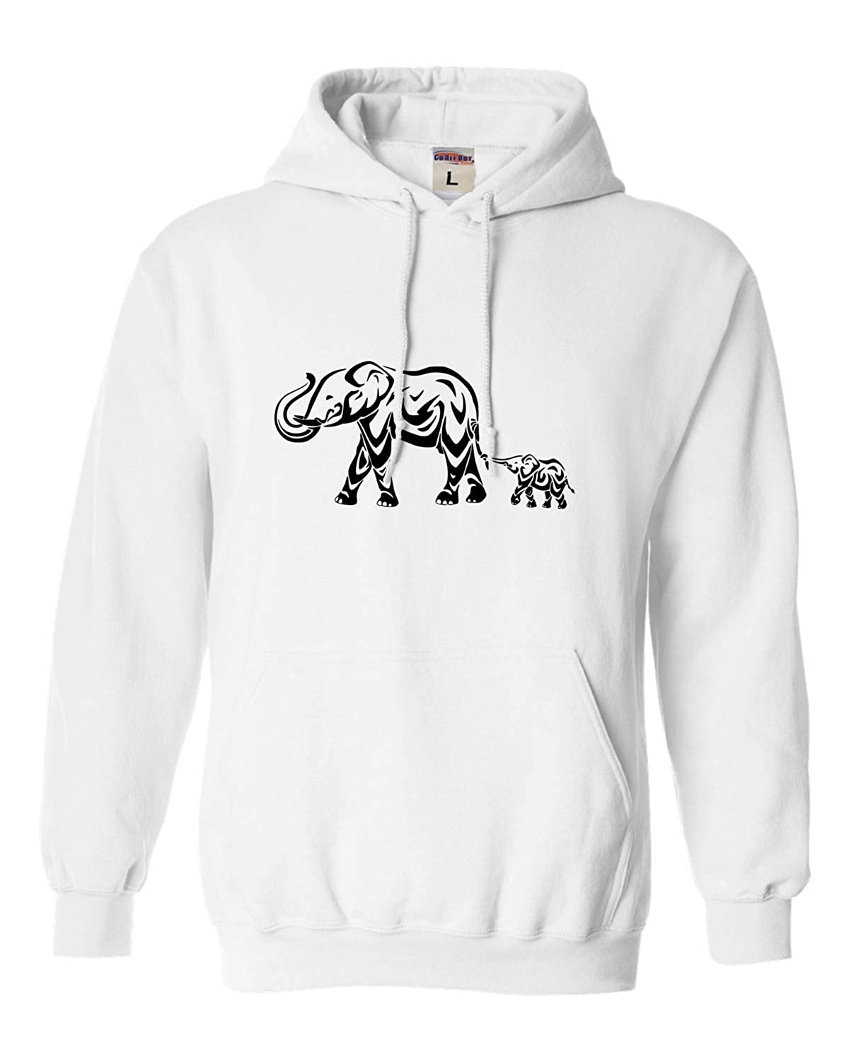 f0f8b1bb8 Amazon.com  Go All Out Adult Abstract Elephant Sweatshirt Hoodie  Clothing
