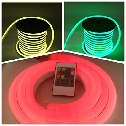 Amazon com: Vasten 30 ft LED Neon Rope Light 12V Flex LED Neon Tube