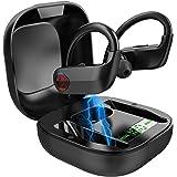 True Wireless Earbuds, Bluetooth 5.0 Wireless Headphones Deep Bass Stereo Sound Noise Cancelling Sweatproof TWS…