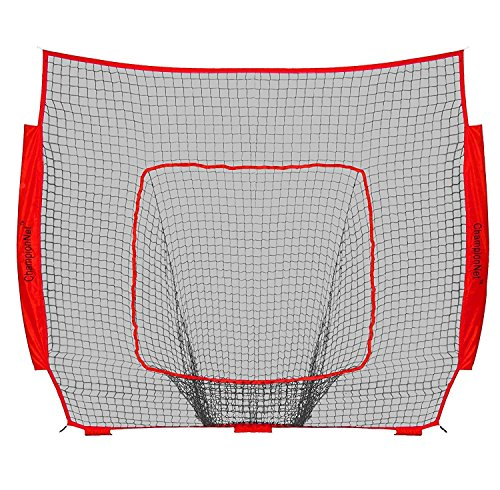 ChampionNet Baseball Softball 7 x 7 Net Replacement Universal fit to Bow Style Net, Team Color NET ONLY
