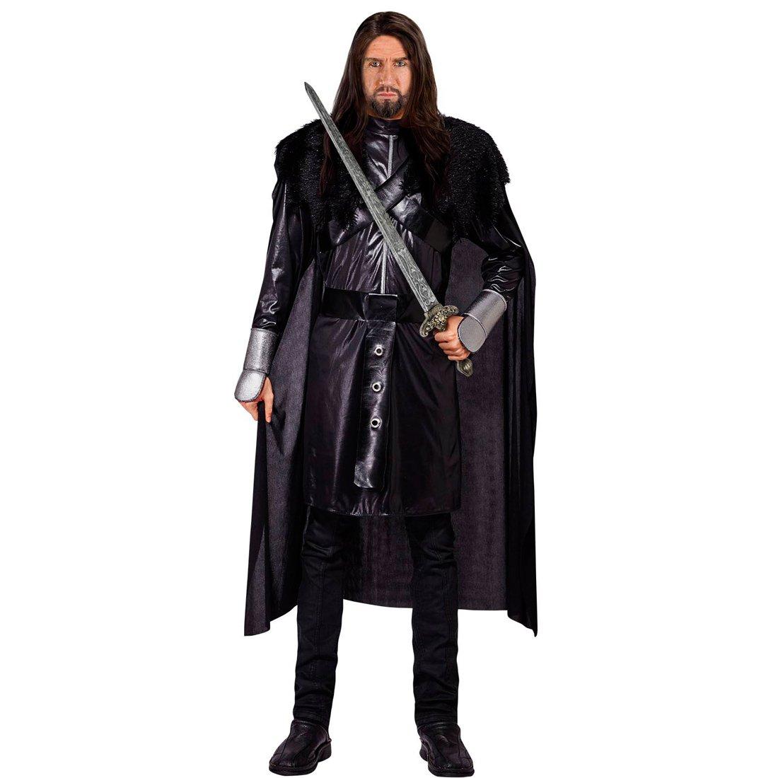 Traje Guerrero Medieval - M (ES 50)   Disfraz Caballero Oscuro   Traje Caballero Negro   Atuendo Vikingo Carnaval