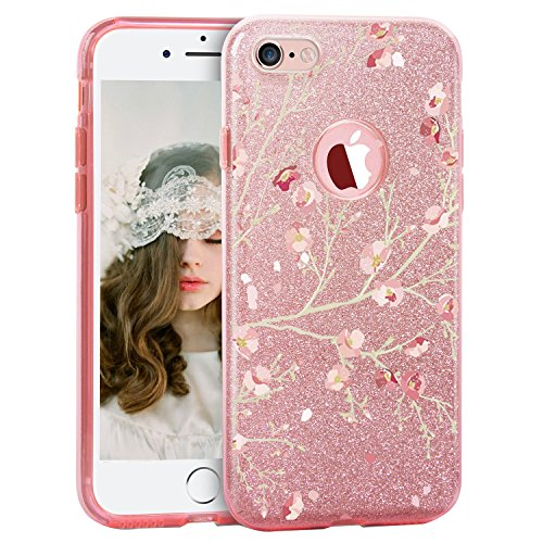 iPhone 6 plus Case iphone 6s plus Cover Luxury Glitter Bling Case Sparkle Bling Designer Three Layer Shining case cover for Apple iPhone 6plus/6s plus 5.5