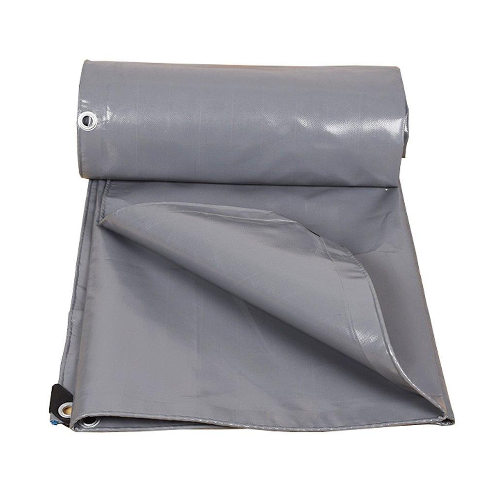 HGNA-Zeltplanen Zelt Zubehör Plane Graue Plane-Wasserdichte Hochleistungs-Plane-Blatt-Stärke 0.45mm, 500g / m² - 100% wasserdicht und UV-geschützt, 11 Größe vorhanden Idee für Camping Wandern
