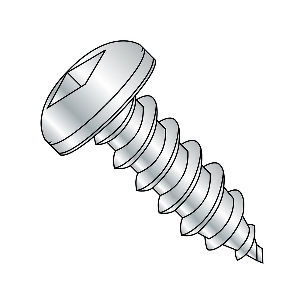 1-1//2 Length Pack of 100 Zinc Plated 1-1//2 Length Pan Head Pack of 100 Small Parts 0624AQP #6-18 Thread Size Square Drive Type A Steel Sheet Metal Screw