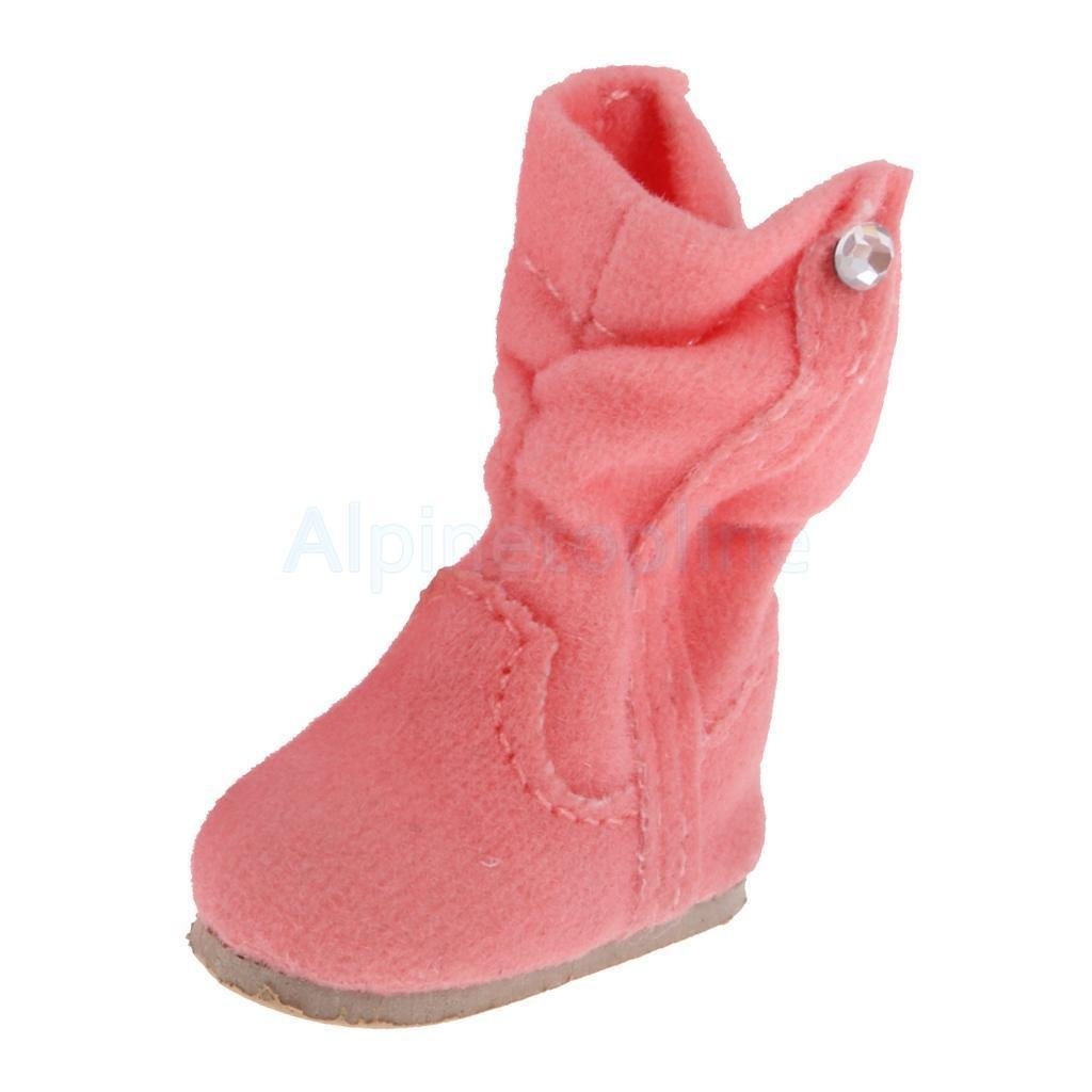 Trendy Pink Doll Flat-heel Snow Boots Shoes for 12'' Blythe Doll Dress Up