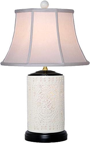 BONE CHINA PIERCED VASE LAMP