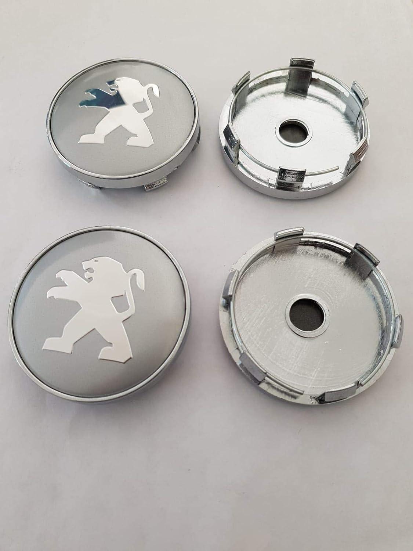 AUDI Tappi centro cerchi in lega Emblem Badge Centro HUB Tappo Set 60mm Nero
