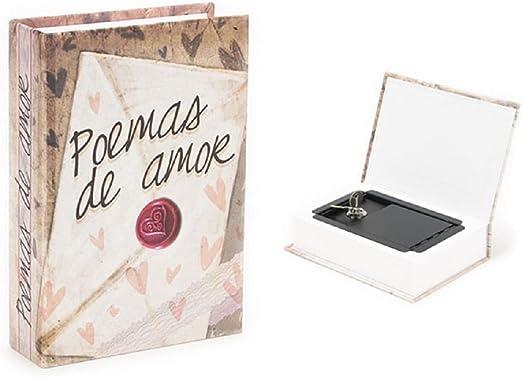 Caja Fuerte Camuflada Libro Poemas de Amor: Amazon.es: Hogar