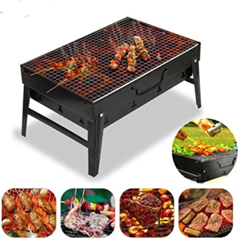 Small Barbecue Grill Folding Portable Charcoal Outdoor ...