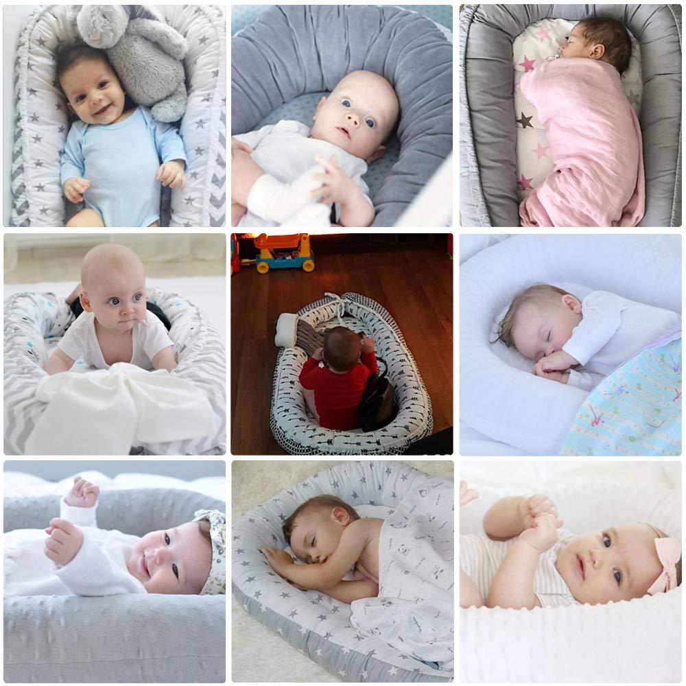 Baby-Nest, Suave y Respirable100% Algodón Nido Para Bebés,Nido de Bebé Multifuncional Cama Biónica de útero de Bebé (by-2020): Amazon.es: Bebé