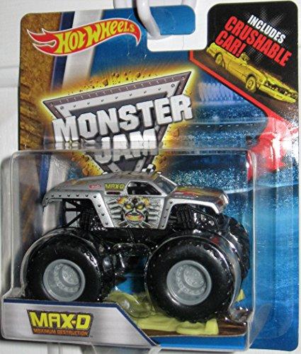 Hot Wheels 2016 Monster Jam Max D Maximum Destruction 1 64 S