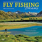 Fly Fishing Dreams 2021 12 x 12 Inch Monthly Square Wall Calendar by Wyman Publishing, River Lake Outdoor Sport