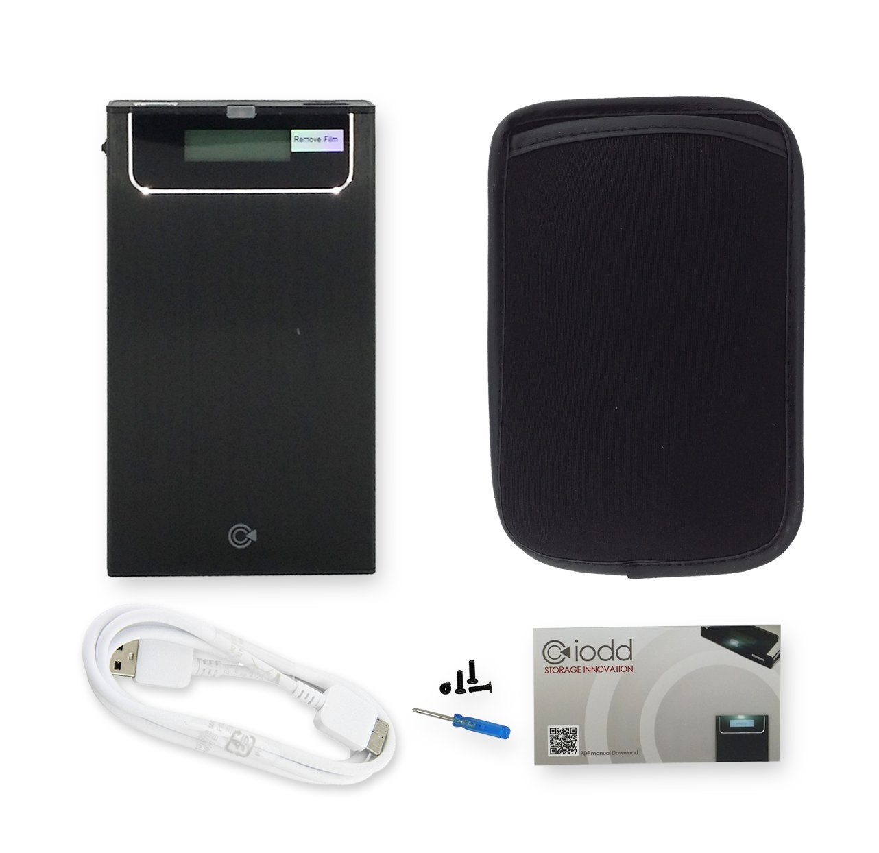 IODD 2531 Negro USB 3.0 External Hard Drive Enclosure [virtual de DVD Blu-ray ROM / VHD / arranque / SSD / HDD / 2.5] Hecho en Corea (IVA no incluido): ...