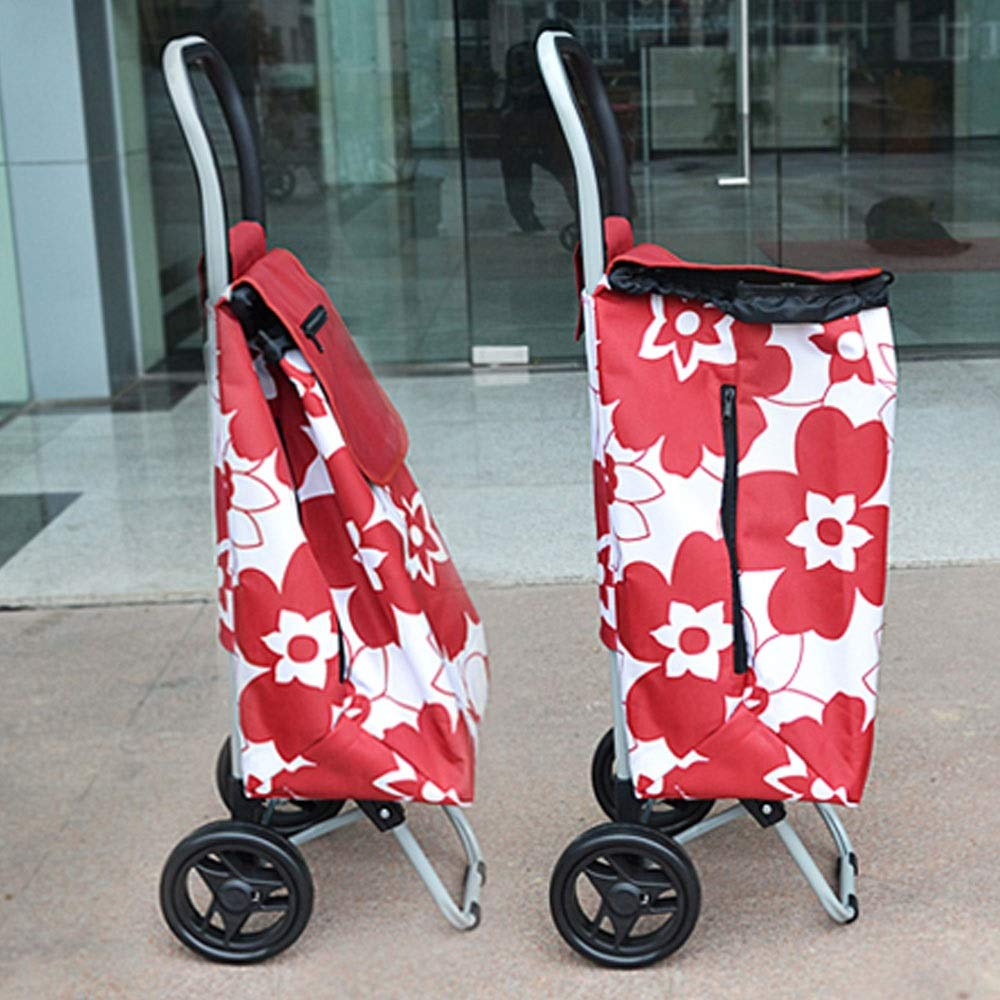 aece912dcde7 Amazon.com: ZSLLO Large Lightweight Trolley Wheel Wheeled Folding ...