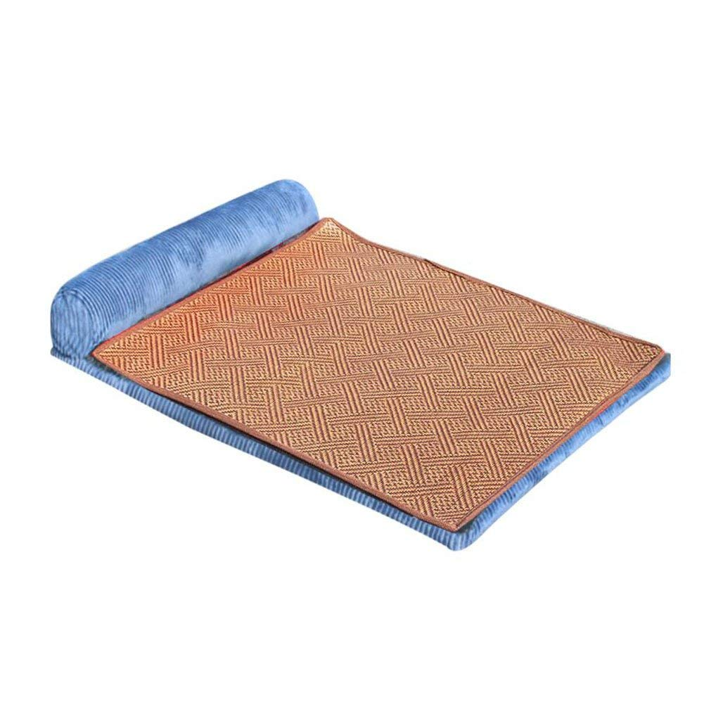 bluee X-Large bluee X-Large HeiPlaine Pet Sofa Kennel Four Seasons Sofa Large Dog Mat Cat Nest Dog Bed Washable Summer (color   Red, Size   M) (color   bluee, Size   X-Large)