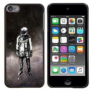 YiPhone /// Prima de resorte delgada de la cubierta del caso de Shell Armor - Traje espacial Viajes hombre Astronauta Estrellas Pintura Arte - Apple iPod Touch 6 6th Touch6