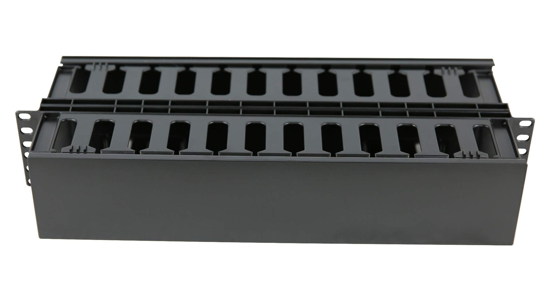 2U Horizontal Double Sided Finger Duct Cable Manager 19'' Rack Mount by Raising Electronics (Image #2)