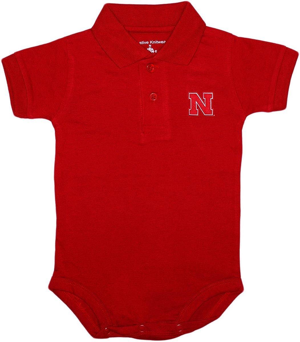Creative Knitwear University of Nebraska Cornhuskers Striped Baby Bodysuit