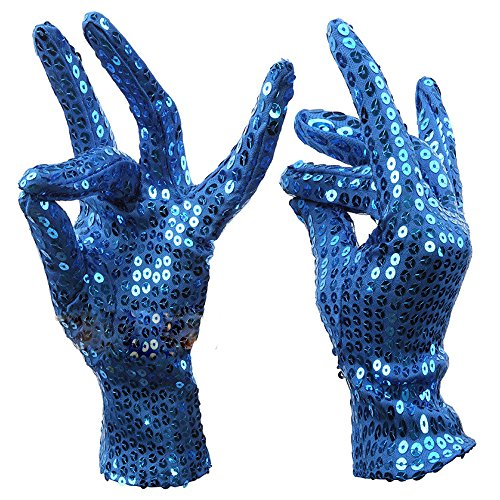 Unisex Cosplay Sequin Gloves for Stage Performance Halloween Xmas Birthday Party]()