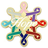 PinMart Cancer Awareness Ribbons Hope Enamel Lapel Pin