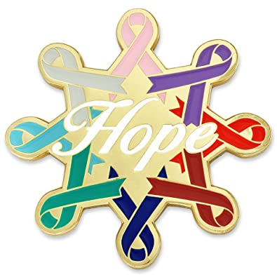 amazon com pinmart cancer awareness ribbons hope enamel lapel pin