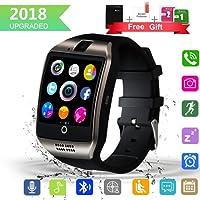 Kindak Smartwatch, Impermeable Reloj Inteligente Redondo con Sim Tarjeta Camara Whatsapp
