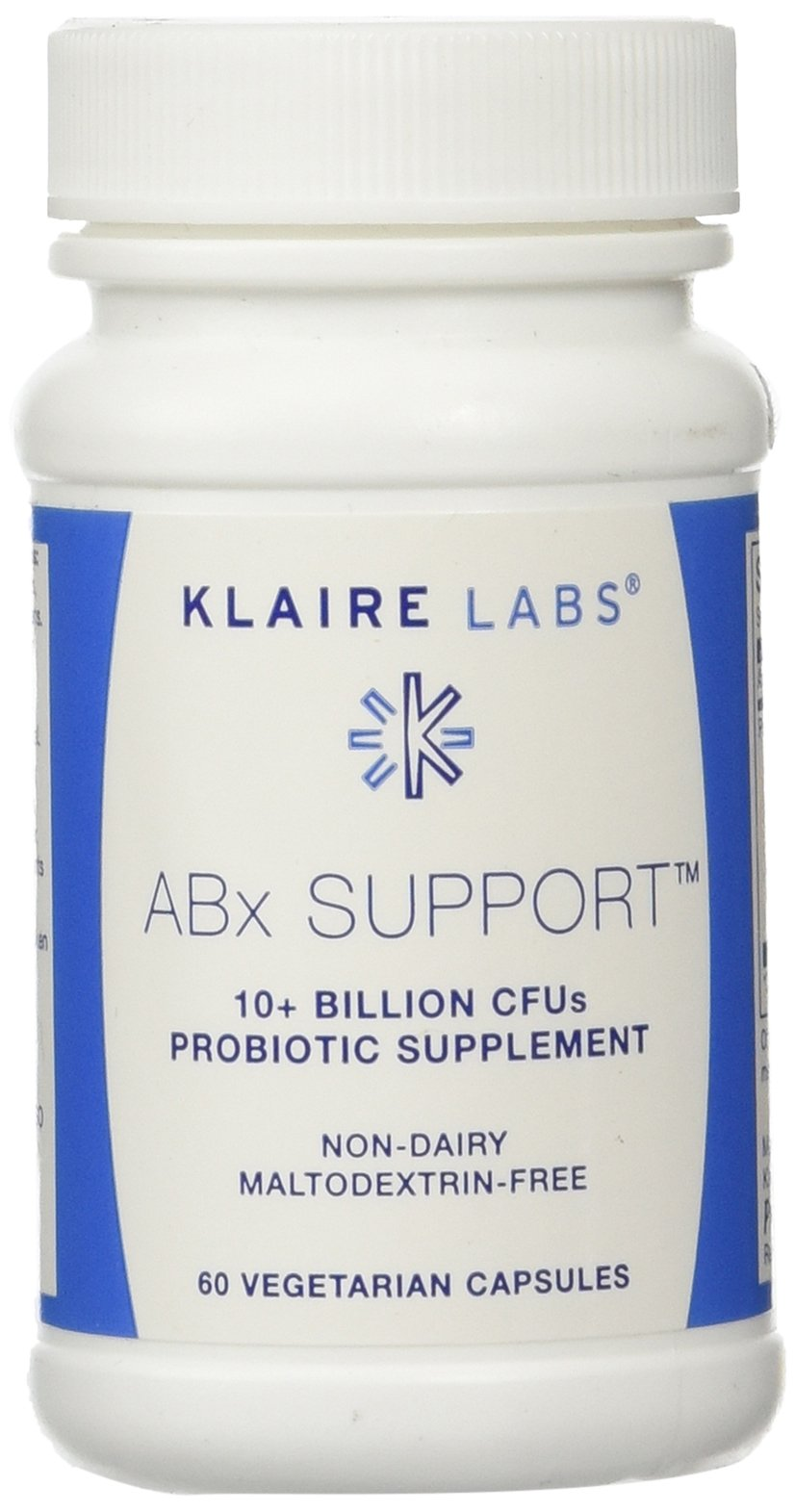 Klaire Labs ABx Support, 60 Vegetarian Capsules