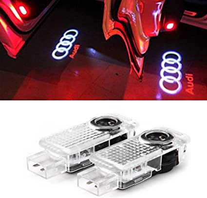 JIAFENG 2 pcs coche puerta luz LED HD Proyector sombra luces para ...