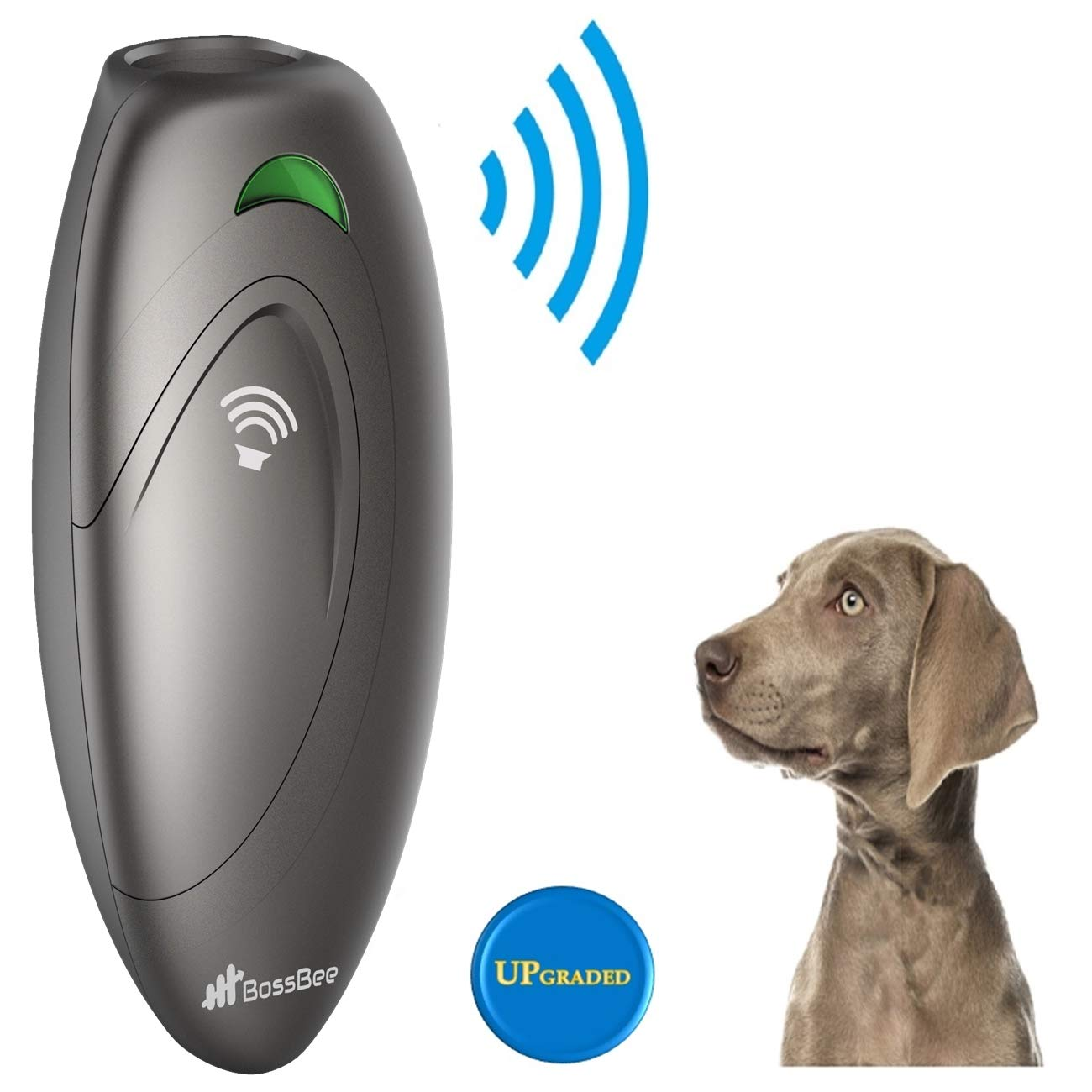 BossBee Ultrasonic barking control, Dog bark control, Bark trainer, Anti  barking device, Handheld ultrasonic dog bark deterrent with Wrist Strap,No