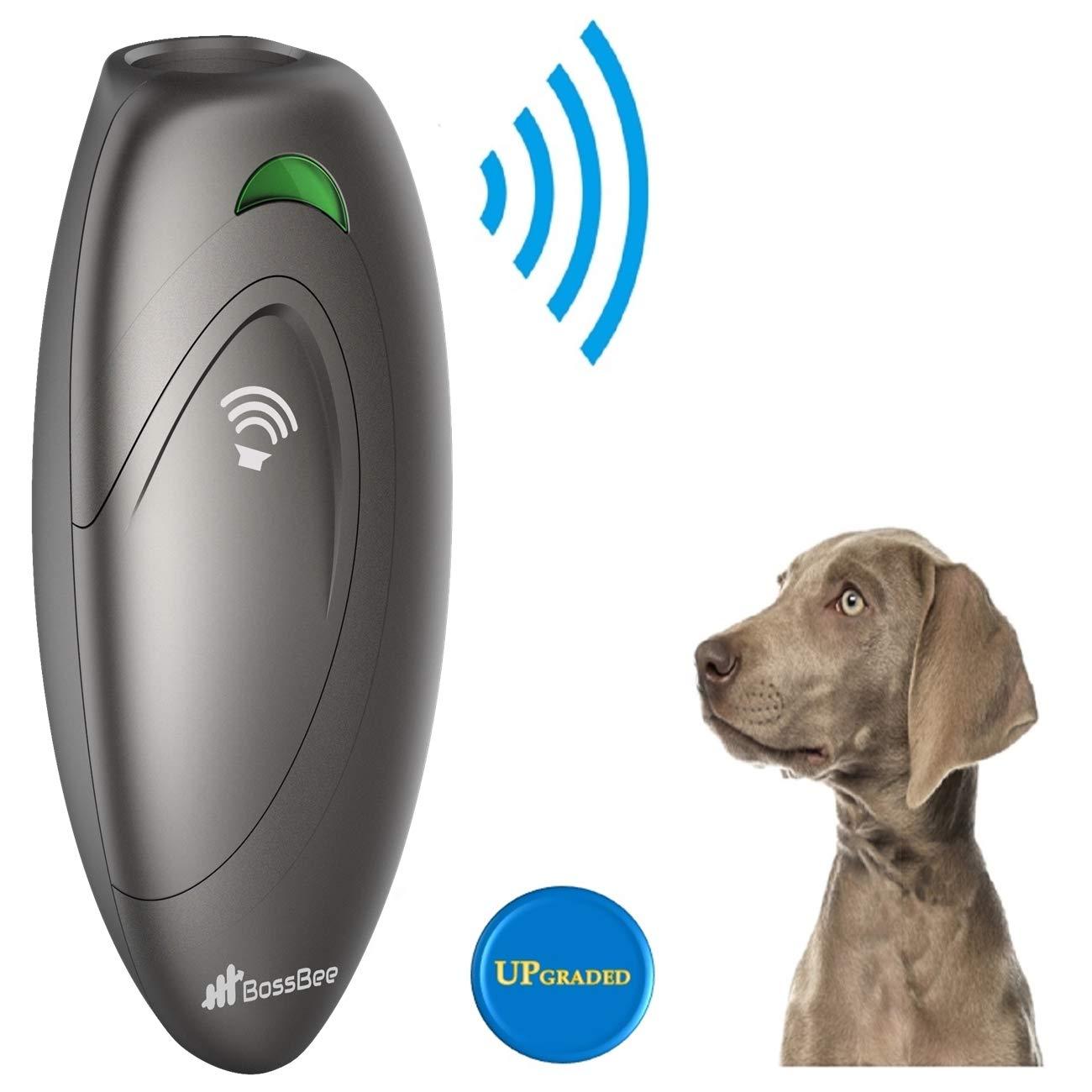 BossBee Ultrasonic barking control, Dog bark control, Bark trainer, Anti barking device, Handheld ultrasonic dog bark deterrent with Wrist Strap,No bark devices,Barking dog deterrent,Bark controller by BossBee