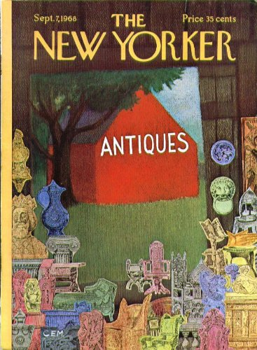 New Yorker cover CEM clip-art antique collage 9/7 1968